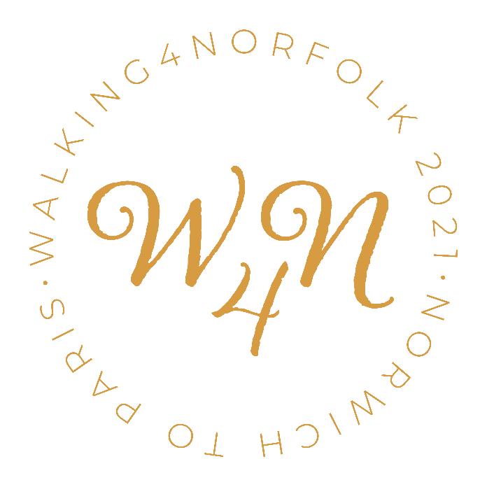 The Walking4Norfolk logo